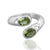 925 Sterling Silver Peridot Gemstone Ring (D7)