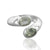 925 Sterling Silver Green Amethyst Gemstone Ring (D9)