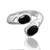 925 Sterling Silver Black Onyx Gemstone Ring (D10)