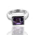 925 Sterling Silver Amethyst Gemstone Ring (D12)