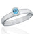 925 Sterling Silver Blue Topaz Gemstone Ring (D14)