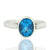 925 Sterling Silver Blue Topaz Gemstone Ring (D16)