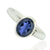 925 Sterling Silver Iolite Gemstone Ring (D18)