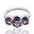 925 Sterling Silver Amethyst Gemstone Ring (D27)