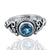 925 Sterling Silver Blue Topaz Gemstone Ring (D28)