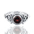925 Sterling Silver Garnet Gemstone Ring (D29)