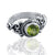 925 Sterling Silver Peridot Gemstone Ring (D31)