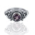 925 Sterling Silver Amethyst Gemstone Ring (D32)