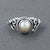 925 Sterling Silver Freshwater Pearl Gemstone Ring (D33)