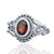 925 Sterling Silver Garnet Gemstone Ring (D35)