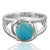 925 Sterling Silver Larimar Gemstone Ring (D41)