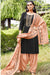 Silk Cotton Suit With Patiala Salwar and Fancy Dupatta (130)