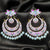 Baby Pink Floral Chandbali Earrings