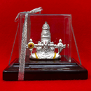 999 Pure Silver Small Lord Bala Ji Idol in Rectangular Base