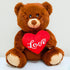 Plush Brown Teddy Bear with Red Heart (9 in) - FREE WITH A PURCHASE OF $75 (CODE: VALENTINE)