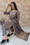 Indian Ethnic Kurti , Palozo with Dupatta Set   (K79)