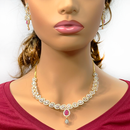American Diamond and Ruby Designer Set