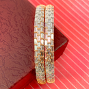 American Diamond and Rose-Gold Bangles (Design 10)