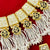 Beaded Gold Plated White Thewa Set (29)