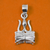 925 Trident Pendant with Damaru Silver Pendant (Design 31)