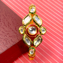 Gold Plated Kundan Openable Bracelet (Design 4)