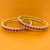 American Diamond and Semi-Precious Ruby Bangles (Design 40)