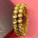 Golden Kundan Bangles (Design 41)