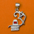 925 OM Pendant with Shiva ling Matte Silver Pendant (Design 42)