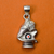 925 Ganesha with Shivling Matte Silver Pendant (Design 46)