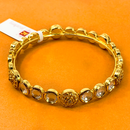 Gold Plated Kundan Openable Bracelet (Design 8)