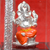999 Pure Silver Small Square Ganesha Idol in Orange