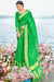 Designer Bandhej Silk Saree in Bright Green