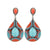 Orange and Blue Teardrop Earrings