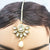 White Half Flower Kundan Gold Plated Maang Tika