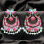 Hot Pink Floral Chandbali Earrings