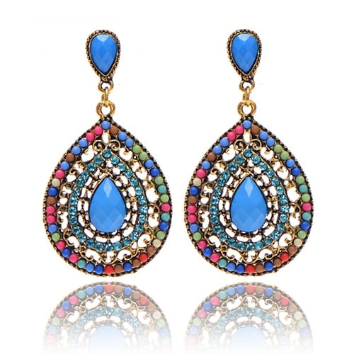 Multicolor Teardrop Earrings
