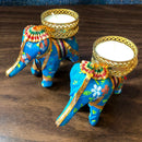 Set of 2 - Designer Elephant Candles (D15)