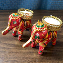 Set of 2 - Designer Elephant Candles (D10)