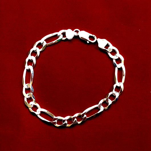 925 Mens Chain Silver Bracelet  - 10 Inches  (Design 11)