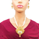 Beaded Gold Plated Semi-Precious Set