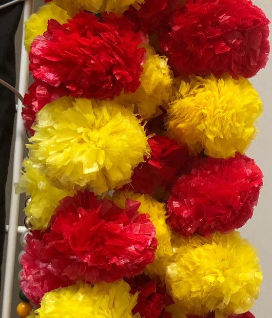 Set of 2 Strings of Marigold Flowers
