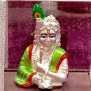 999 Pure Silver Rectangular Krishna Idol Playing his Flute