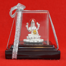 999 Pure Silver Lakshmi Idol with Red Headrest