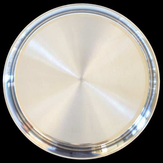 925 Solid Silver 8 Inches Simple Plate (Design 9)