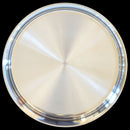 925 Solid Silver 10 Inches Simple Plate (Design 7)