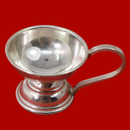 925 Silver Round Handle Diya (Design 14)