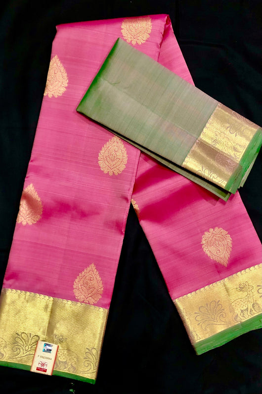 Silk Mark Certified Designer Pure Kanjivaram Silk Saree (D7)