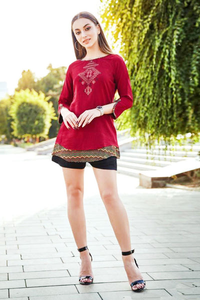 Cotton Short Kurti / Top(D60)
