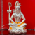 999 Pure Silver Shiva Idol with Orange Clothing in Rectangular Base