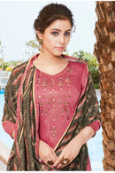 Silk Cotton Suit With Patiala Salwar and Fancy Dupatta (118)